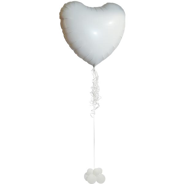 לב ענק לבן